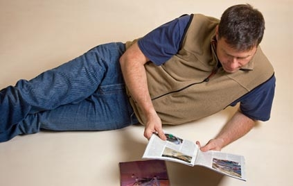 Man reading a magazine