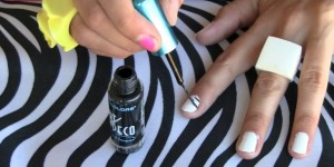Striped Nail Art Tutorial & Photos